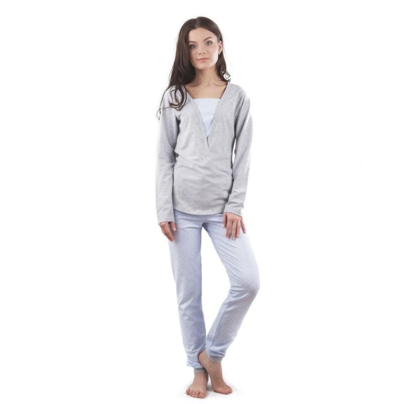 Сіра піжама з кишенями VPL 031