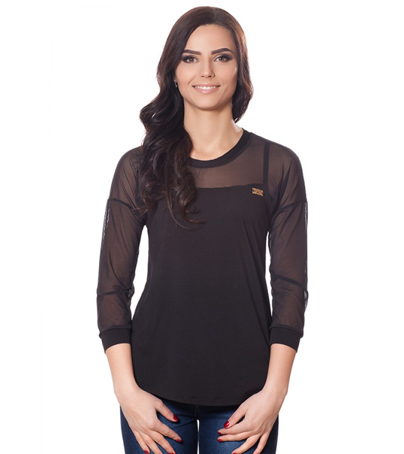 Блуза БЛ 176 чорний