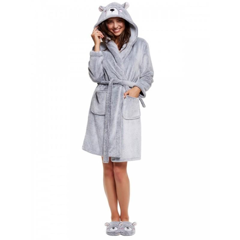 Плюшевий халат з капішоном HONEY